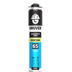 Монтажная пена Grover GF65 750ml (Под пистолет) - фото 5077