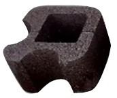 Блок колонный круглый угловой 32х32х19см с пигментом (цветной) - фото 5542