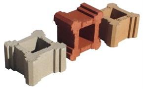 Камень колонный 32х19х32см с пигментом (цветной)