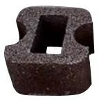 Блок колонный круглый проходной 32х32х19см с пигментом (цветной)