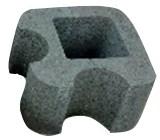 Блок колонный круглый угловой 32х32х19см